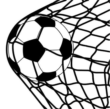 ball in a grid of gate Stock Illustratie