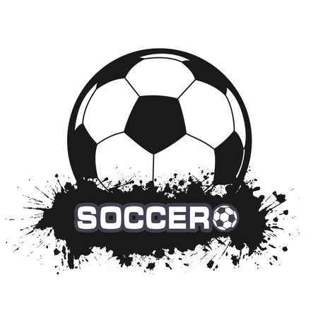 soccer ball a symbol in style grunge