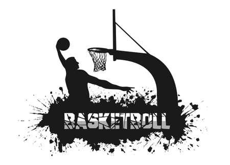 match: basketball match on grunge background Illustration