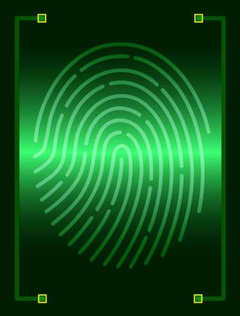 dactylogram: fingerprint scanner