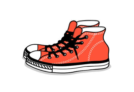 juventud: dibujo de calzado deportivo. juventud fácil calzado