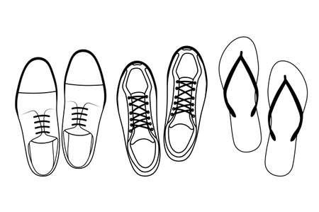 footwear: footwear top view Illustration