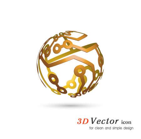 esquema: ámbito del esquema 3D electrónica