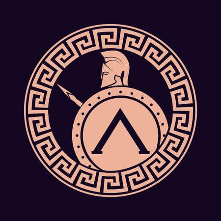 soldado: icono de la silueta del soldado Spartan