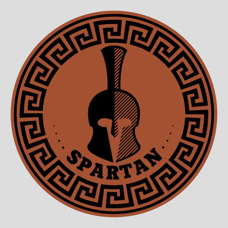 ancient civilization: icon a Spartan helmet