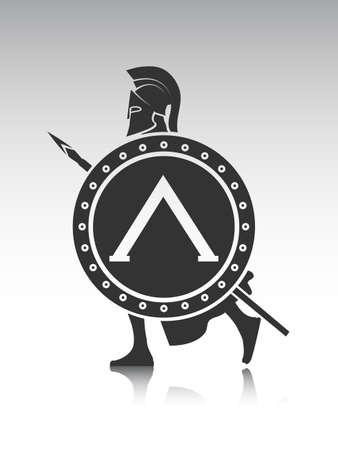 cascos romanos: dibujo del antiguo soldado