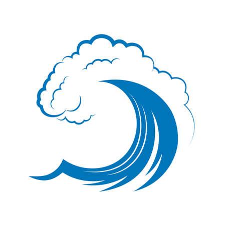 ocean wave: ocean wave on a white background Illustration