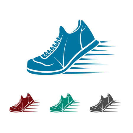 Pictogram sportschoenen Stockfoto - 43829458