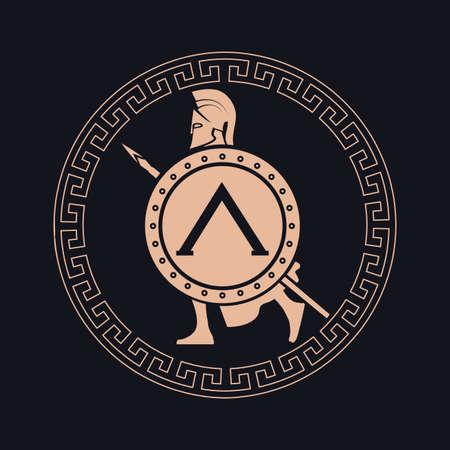 roman soldiers: Icona silhouette del soldato Spartan Vettoriali