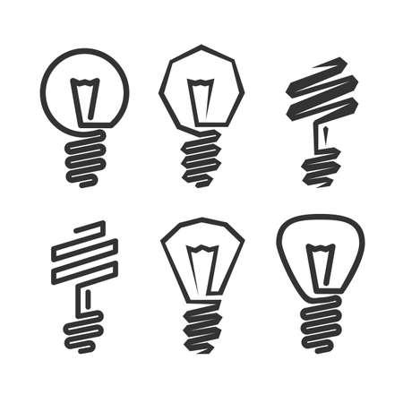 抽象的な電球アイコン  イラスト・ベクター素材