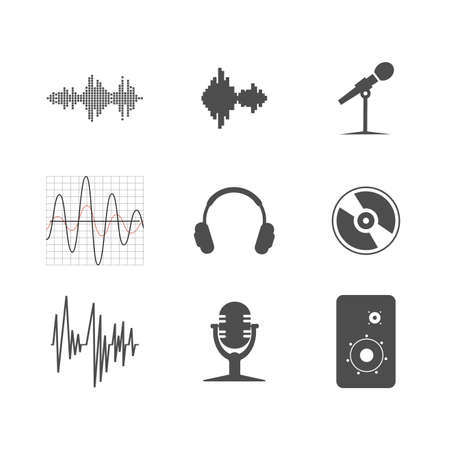 simplus: set of musical icons Illustration