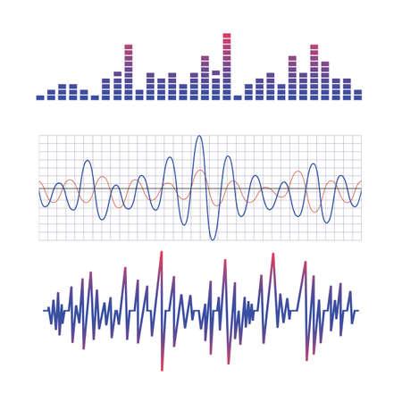equalizer. scheme of radio waves Stock Illustratie