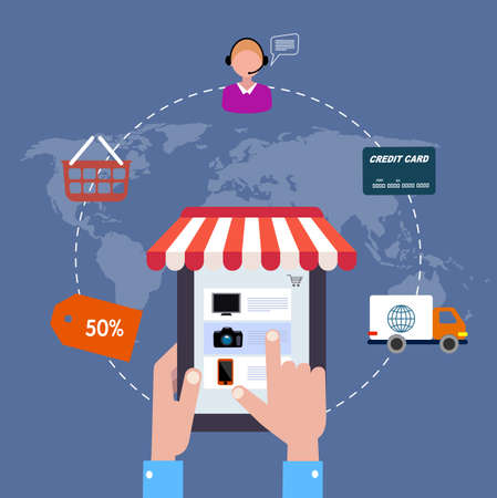buy icon: icon online shop. sale Internet. flat style
