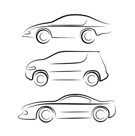 silhouette voiture: silhouette de la voiture Illustration