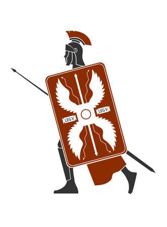 roman empire: Roman soldier icon
