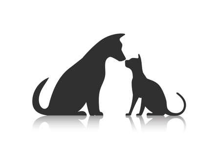 silueta gato: Amigos Icono de mascotas Vectores