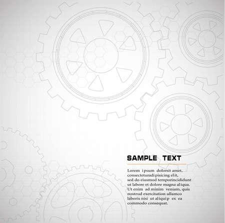 engranes: dibujo .background técnica de engranajes Vectores
