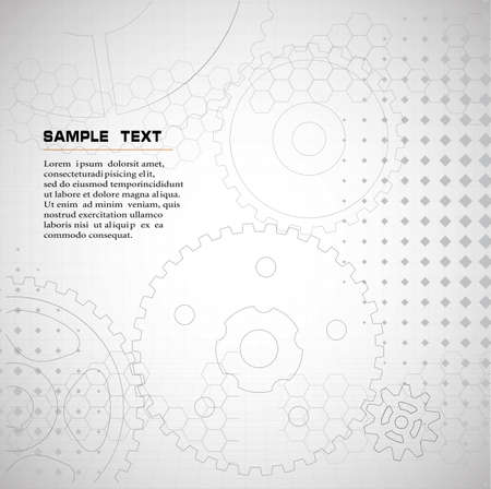 technical background: drawing technical .background from gears Illustration