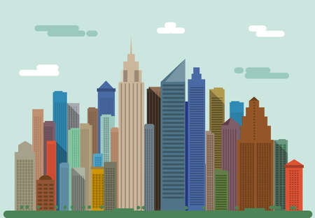 City landscape. City panorama.