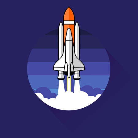 new business: rocket icon. concept of new business project and launch a new innovation product Illustration
