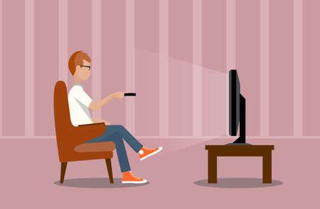 person near the TV screen illustration