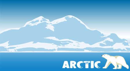 북극 풍경입니다. 자연 배경입니다.