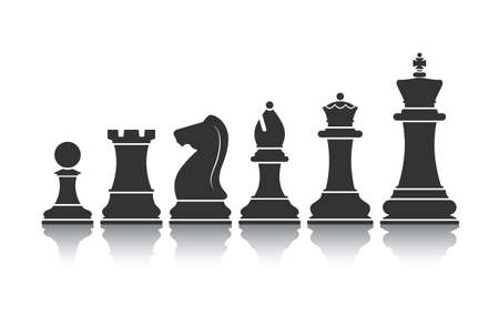 chessmen: chessmen icon vector Illustration