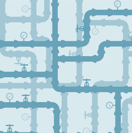 conduit: Scheme of water system .vector background