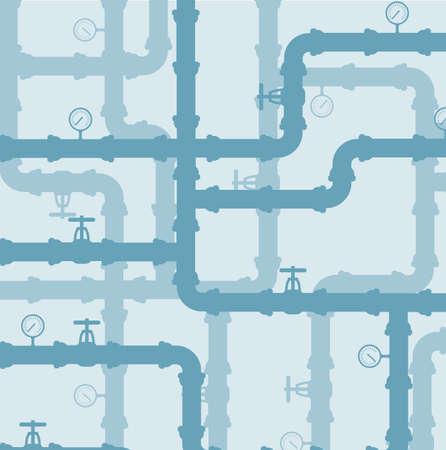 Scheme of watersysteem .Vector achtergrond Vector Illustratie