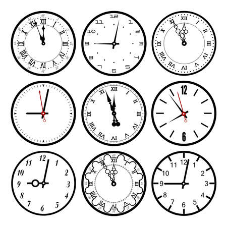 dials: set dials of hours Illustration