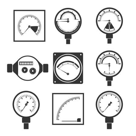 measuring instruments: icons of measuring instruments