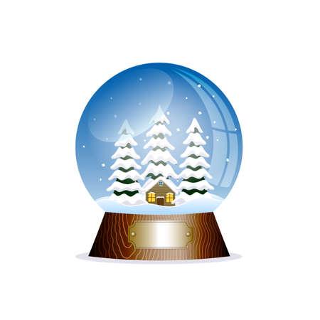 christal: Christmas toy snow globe Illustration