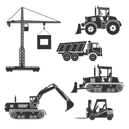 construction icon: construction equipment of an icon