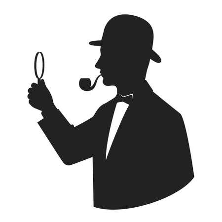 silhouet Sleuth Stock Illustratie