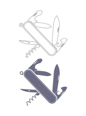 penknife: penknife silhouette