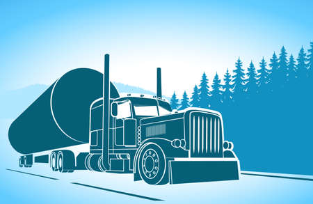 truck driver: Trucking. big car on the road