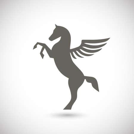pegasus: Pegasus icono mítico caballo alado Vectores