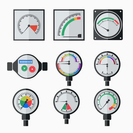 Symbole von Messgeräten