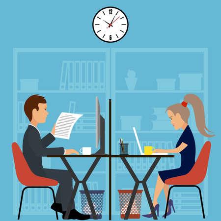shareholder: Office worker.Business meeting