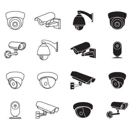 supervise: set of icons surveillance camera