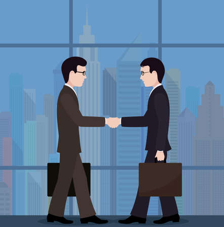 conclusion: The meeting of businessmen. conclusion of the transaction.