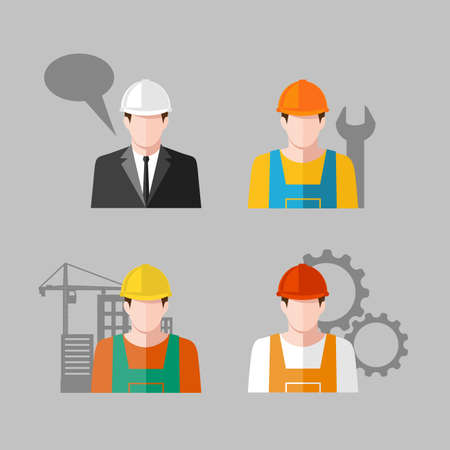 construction icon: icon people Industry