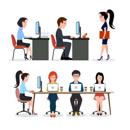 Bureau de travail. Business team.