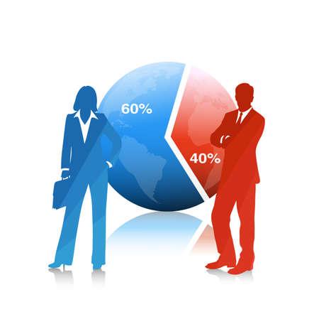 desarrollo económico: La gente de negocios .El concepto de desarrollo económico Vectores