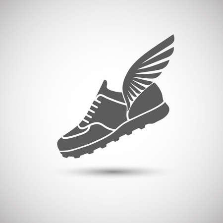 sportschoenen met vleugels pictogram