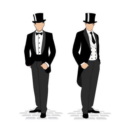 suit: silhouette of a gentleman in a tuxedo