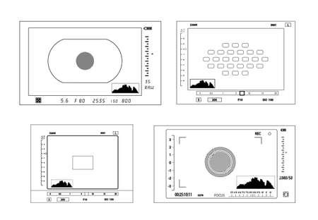 display: Camera viewfinder display illustration. Illustration