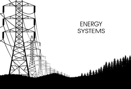 transfers: lines of electricity transfers on a white background