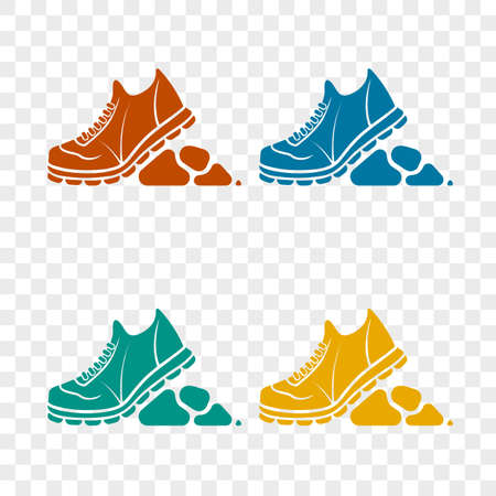 hiking shoes: icon rough shoe for trips Illustration