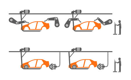 conveyor: auto assembly conveyor Illustration